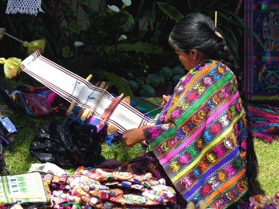 Tissage traditionnel dans la région du chichicastenango
